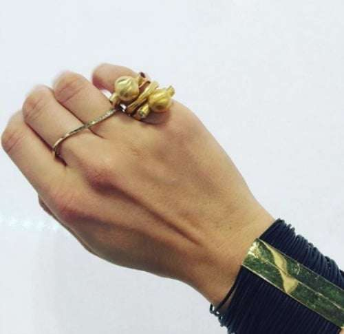 Andrea Gutierrez 18K yellow gold rings