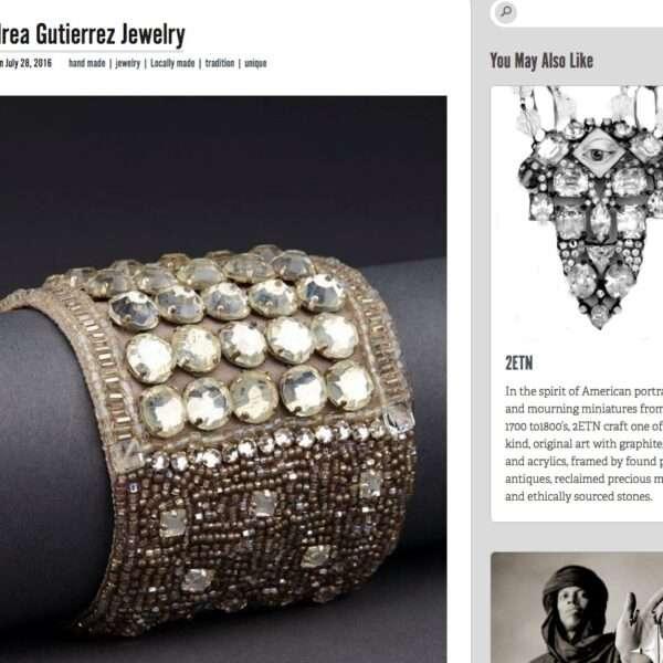 Andrea Gutierrez couture cuffs fashion editorial