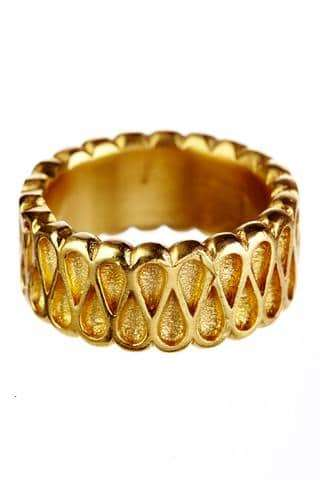 18K Collar Ring Wide