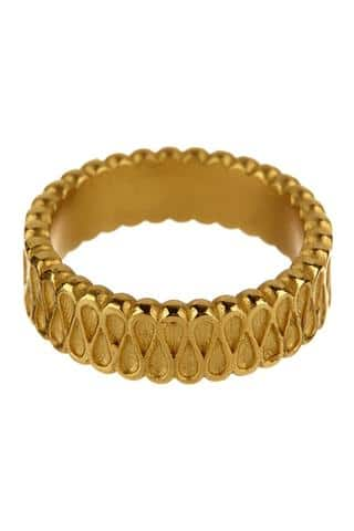 Collar Ring in Yellow Gold