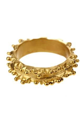 Ruffle Ring in Yellow Gold