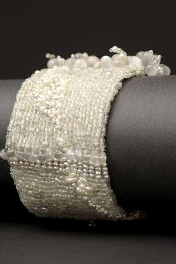 Andrea Gutierrez moonstone couture cuff