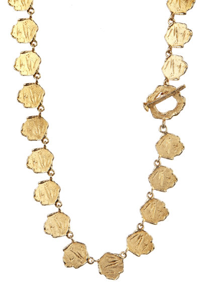 18K gold dangling fantasy necklace