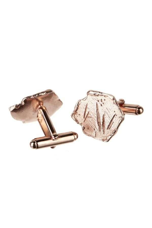 18K rose gold Vestal cufflinks