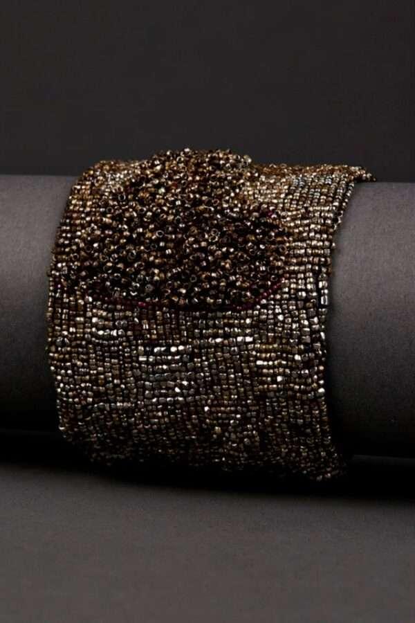 Andrea Gutierrez metal couture cuff